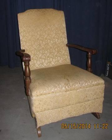 Antique Upholstered Rocking Chair For Sale In Urbana Illinois
