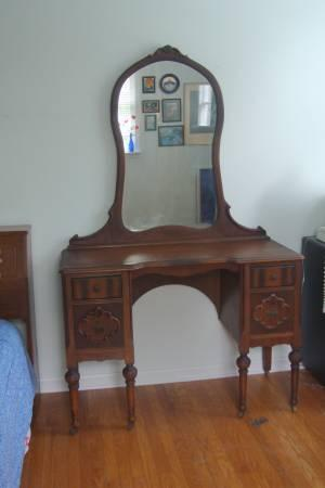 Antique Vanity Mirror Cherry From Early 1900 S