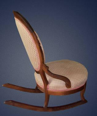Victorian slipper chair - Antique Victorian Style Slipper Rocking Chair For Sale In
