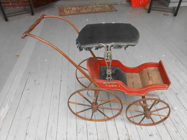 vintage american baby carriage