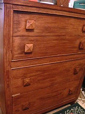 Antique Vintage Oak Drop Front Write Desk Chest Secretary