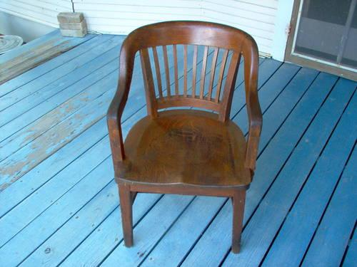 antique vintage oak office chair reduced for sale in