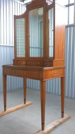 Antique vintage vanity dressing makeup table W J Sloane Ballard design