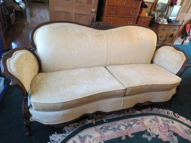 Antique Vintage Victorian Sofa Couch And Chair Set