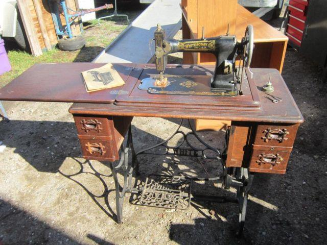 antique white sewing machine for sale