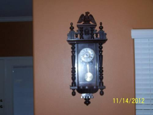 Antique Wall Clock (approximately 1856)