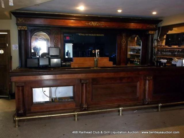Antique Walnut Column Mirrored Back Bar Amp Front For Sale