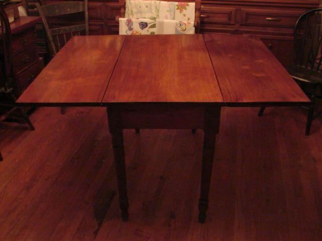 Antique Walnut Drop Leaf Dining Table For Sale In Clinton Tennessee