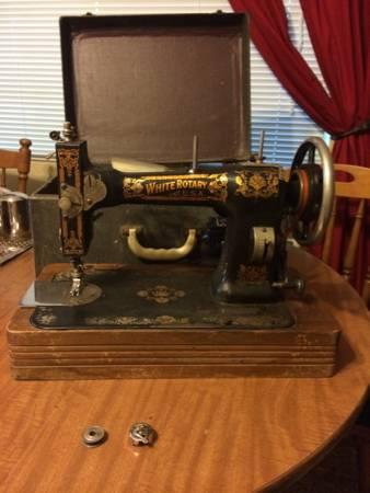 White Rotary Sewing Machine Classifieds Buy Sell White Rotary Adorable Antique White Rotary Sewing Machine