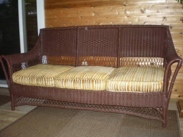 Antique Wicker Sofa and Rocker - $300