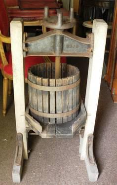 Cider Press For Sale >> Antique Wine Press Turn Of Century Cider Fruit Press