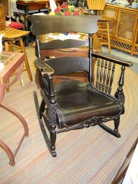 Antique Wisconsin Furniture Co Rocking Chair Circa 1900
