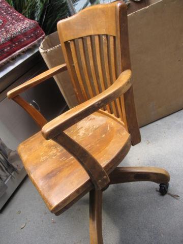 Peachy Antique Wood Bankers Arm Chair Gold Desk Safe Co For Sale Lamtechconsult Wood Chair Design Ideas Lamtechconsultcom