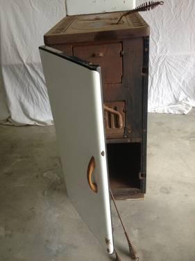 Antique Wood Cook Stove Enamel Cast Iron Enterprise