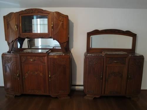 Antique Wood Dining Room Set