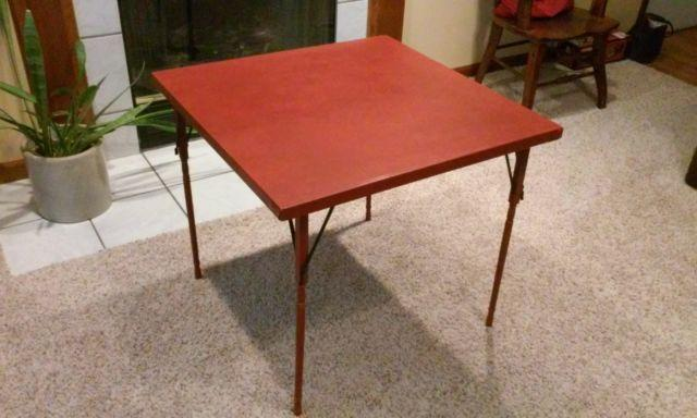 Antique Wooden Card Table