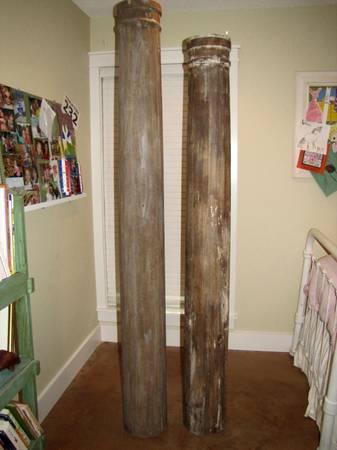 Antique wooden columns