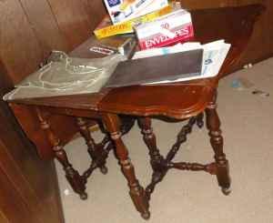 antique wooden drop leaf dining room table southwest denver for sale in denver colorado. Black Bedroom Furniture Sets. Home Design Ideas
