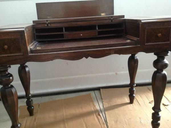 Antique Writing Desk And Chair