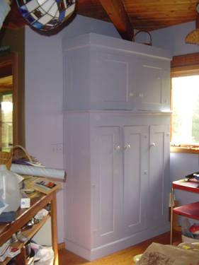 Antique Large Blue Pantry Cabinet For Sale In East Calais Vermont Classified