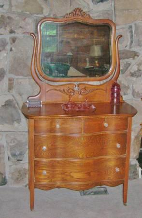 Antiques Moving Antique Oak Dresser Amp Mirror Childs