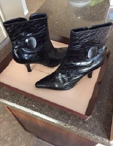 2eefd1880fa65 Antonio Melani Vero Cuoio Black Boots w  Heels Women s Shoe 7.5 for ...