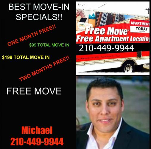 Apartment Finder ** San Antonio, TX. ** MOVE-IN SPECIALS