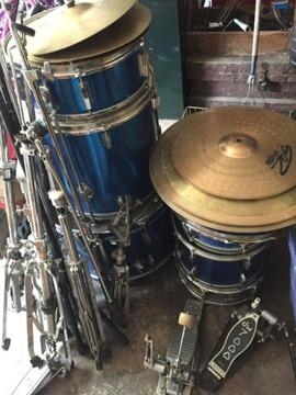 apollo 5 piece drum set plus double bass accessories for sale in ingleside illinois classified. Black Bedroom Furniture Sets. Home Design Ideas