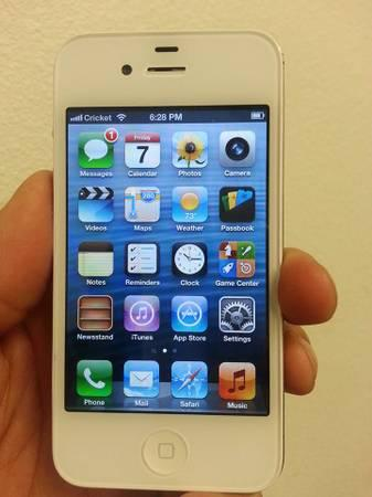 Apple iphone 4 16gb cricket smartphone for sale in reedley california