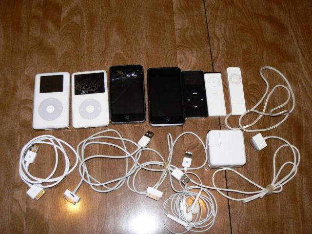 Apple iPods for Parts/Repair Classic/Touch/Shuffle