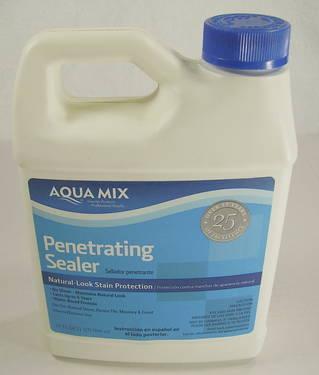 aqua mix penetrating sealer instructions