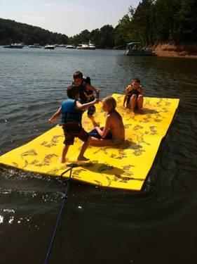 Aqua Lily Pad Floating Water Mat Lake Time Oklahoma