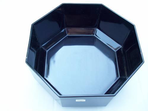ARCOROC France Octime Black Cereal Bowls Octagonal Shape - Set of 2