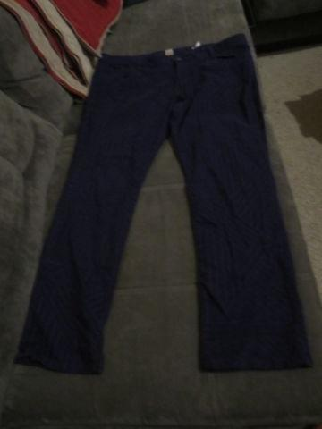 Arizona Jeans blue junior jeans with lined pattern,