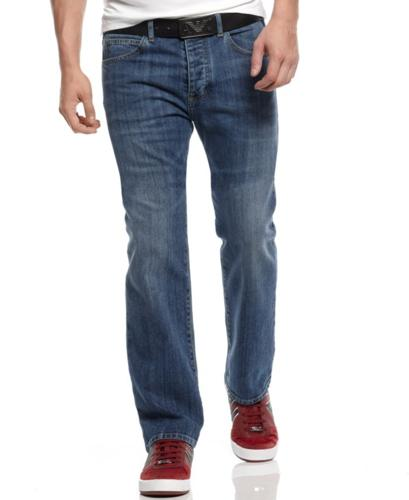 Armani Jeans Pants, Straight Leg High Rise Jeans