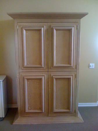 Armoire Dresser Tv Cabinet Entertainment Media Center Large Wood