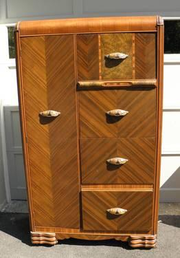 art deco waterfall armoire chifferobe for sale in ulster. Black Bedroom Furniture Sets. Home Design Ideas
