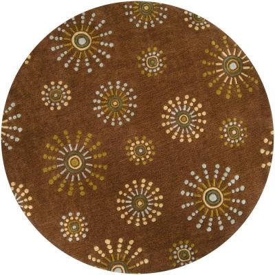 Artistic Weavers Meredith Brown 8 Ft Round Area Rug For