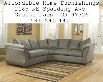 Ashley cobblestone sectional new with warranty several for Affordable furniture grants pass oregon