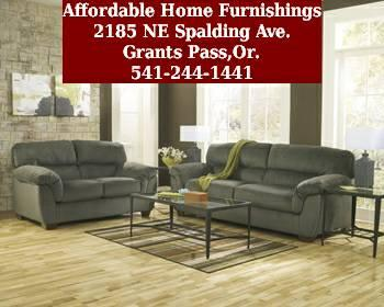 ashley coral pike pewter sofa love seat for sale in ForAffordable Furniture Grants Pass Oregon