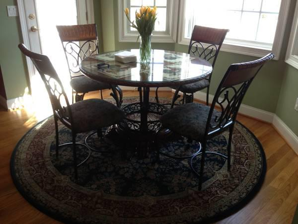Ashley dinette set and bar stools for sale in terryville