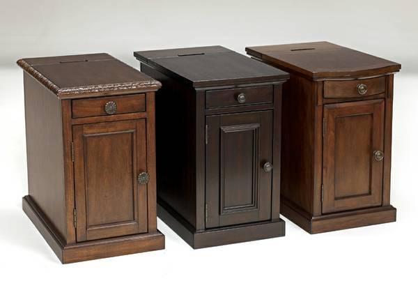 Ashley End Tables W Usb Charger Power Outlet Storage