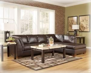 ASHLEY FURNITURE MAHOGANY DURABLEND SECTIONAL-LEFT OR