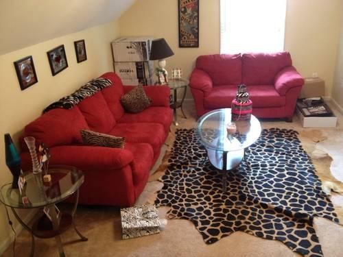 Etonnant Ashley Furniture Red Couches (2 Total For Sale In Simpsonville, South  Carolina