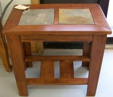 Ashley Furniture Slate Top End Table For Sale In La