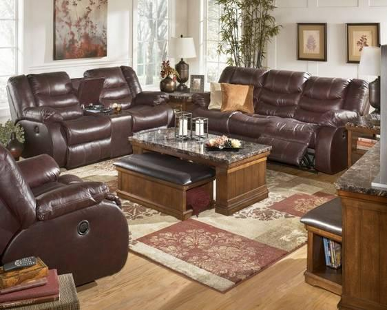 ASHLEY LEATHER RECLINERS - $1795