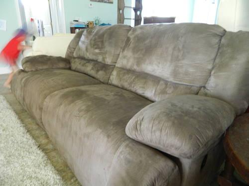 Ashley Microsuede Couch - 2 Years old, Great Condition