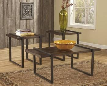Ashley salyersville coffee table and two end tables for Affordable furniture grants pass oregon