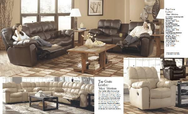 Ashley Top Grain Leather Sofa For Sale In Clay Illinois