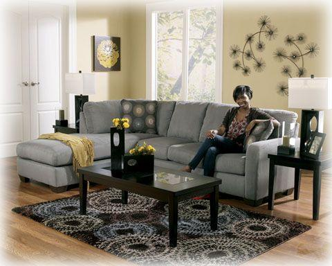 Ashley Zella Charcoal Sectional Texas City For Sale In